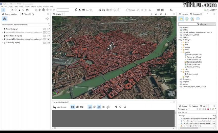 课时24:发布到google earth浏览城市场景