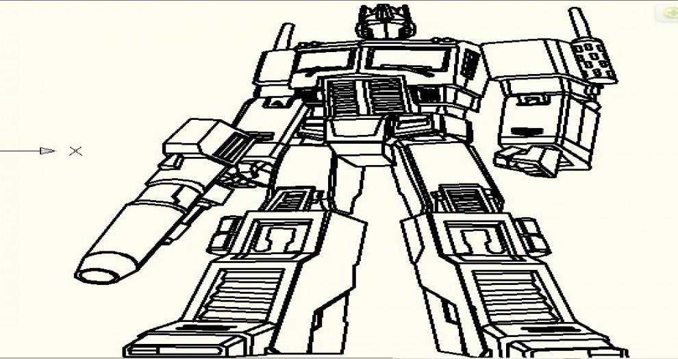 变形金刚 机器人 简笔画高清图片