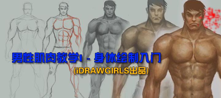 男性肌肉教学I - 身体绘制入门(iDRAWGIRLS出品)