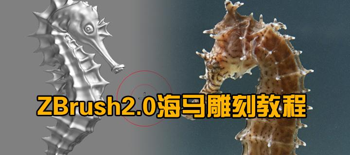 ZBrush2.0海马雕刻教程