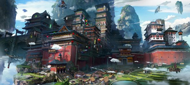 Tyler edlin中国式古建筑场景设计教程