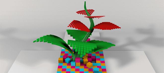 C4D象素花动画制作教程