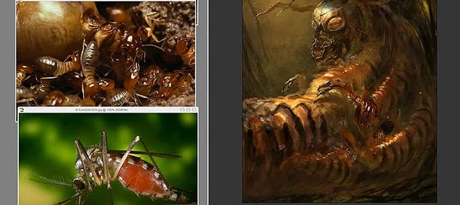 Photoshop臭虫素描绘画教程