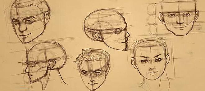 手绘 人物比例绘画教程