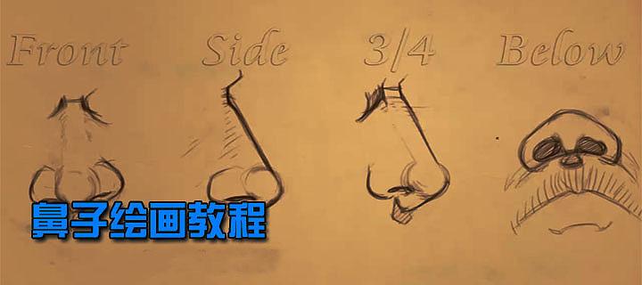 手绘 鼻子绘画教程
