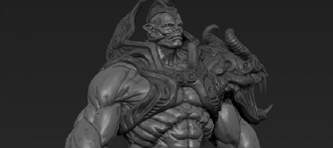 ZBRUSH游戏模型之怪物的雕刻