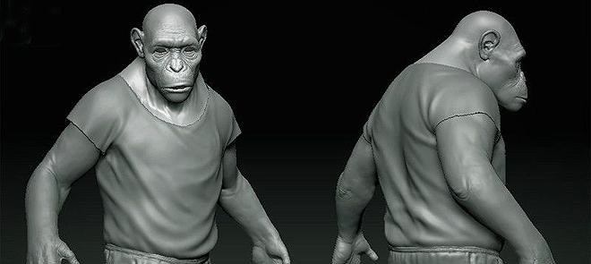 ZBrush4R3快速制作黑猩猩毛发效果