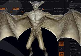 Zbrush蝙蝠怪物制作教程