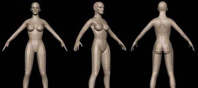 Zbrush4制作女人模型