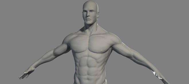 Zbrush 4制作男人身体案例