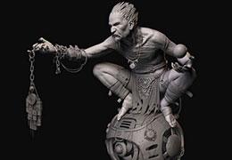 次世代游戏角色-3D模型展UV