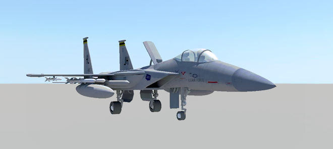 MAYA战机模型制作