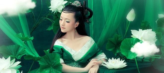 Photoshop中国古典婚纱照设计