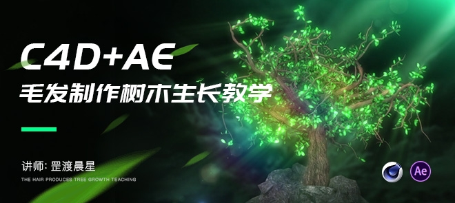 C4D毛发系统制作树木生长实例教程