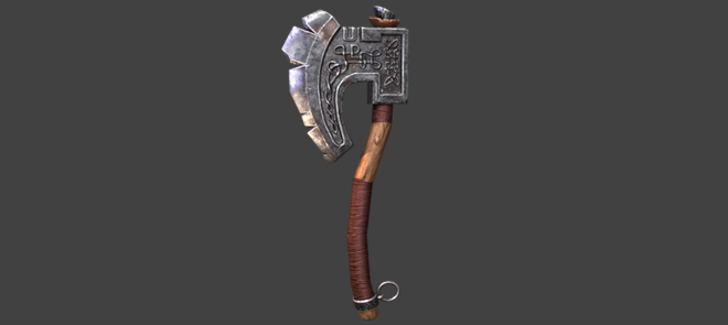 次世代游戏武器斧子模型创建与PBR材质创建教学