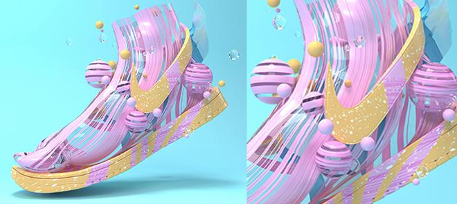 C4D 张扬创意《梦想战靴》变形器建模与OC渲染案例实战