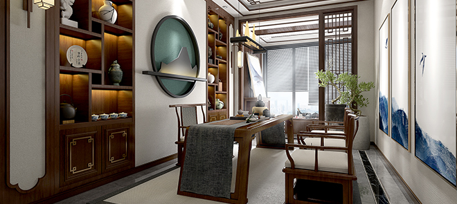 室内渲染《光与影的艺术-书房》室内场景渲染教学
