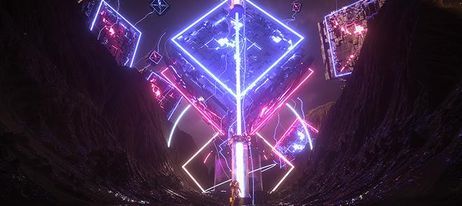 C4D 大场景解析《异星峡谷》闪电特效与材质探秘