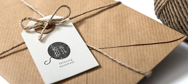 毛线品牌标志字体《拾光》高挑清新风格设计