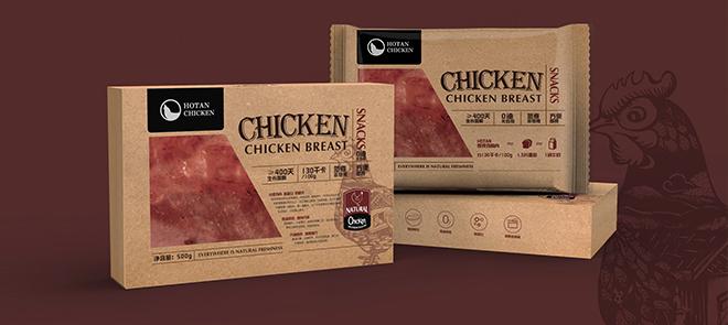 组合型包装设计《即食鸡胸肉》从内盒到外盒实战教程