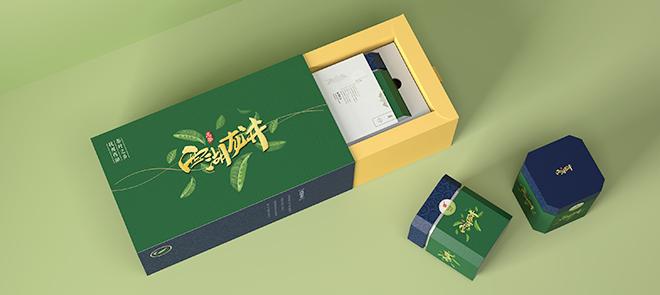 抽屉盒《西湖龙井茶叶》从平面到c4d建模材质表现