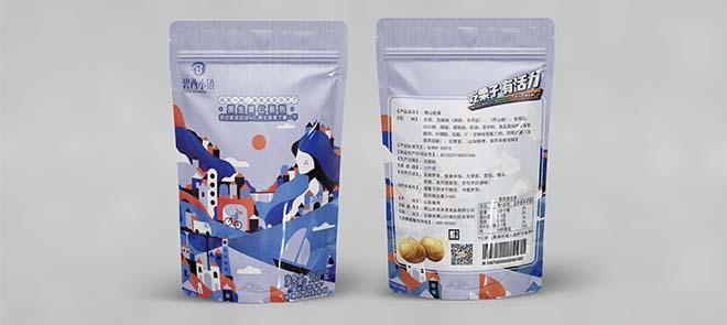 零食包装袋插画设计《原生果仁-栗子》从草图到效果图制作