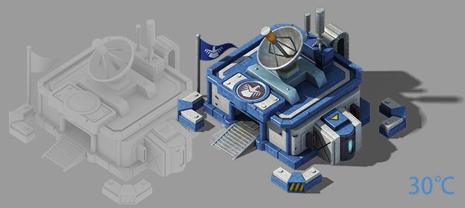 2.5D游戏《小总部》三转二游戏模型制作
