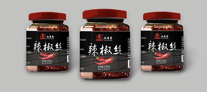 瓶贴标签包装设计【辣椒丝】从版式设计到图形的处理