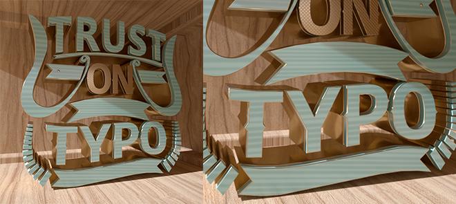 C4D 字体练习《三维阁楼字体》程序建模与渲染讲解