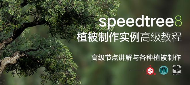 SpeedTree8—植被制作实例高级教程【案例讲解课】
