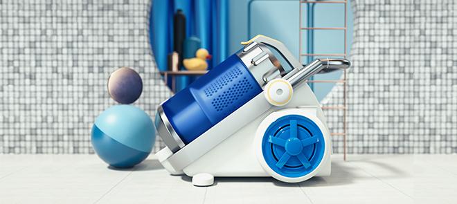 C4D R20体积建模实操 吸尘器电商产品场景表现【案例实战】