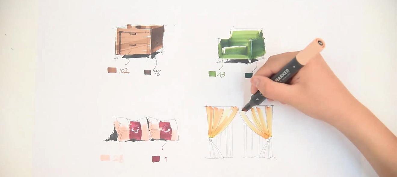 马克笔手绘效果图技法