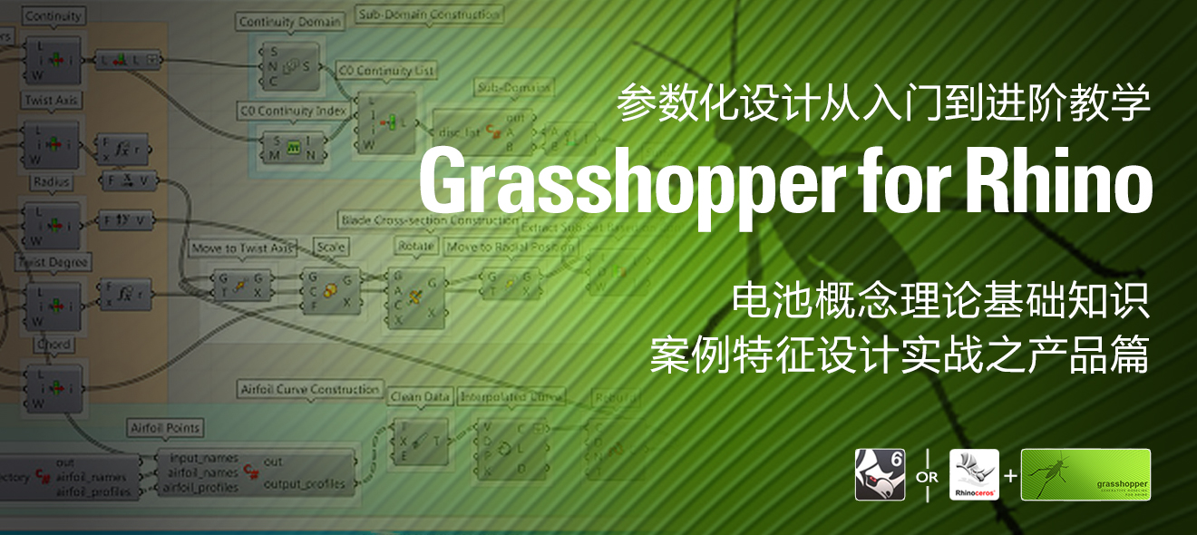 Grasshopper基础拓展与建模逻辑思维训练【入门进阶|答疑|产品方向】