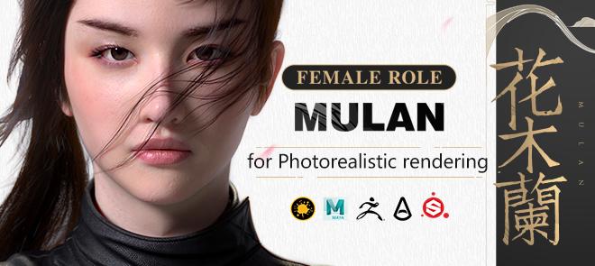 """""""Liu yifei likeness as Mulan"""" for Photorealistic rendering"""