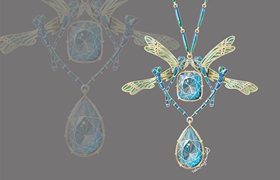 procreate-法式珠宝绘制
