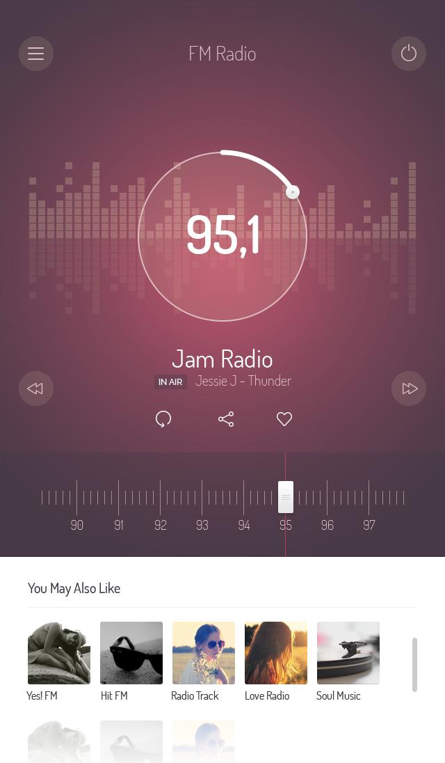 手机收音机播放界面