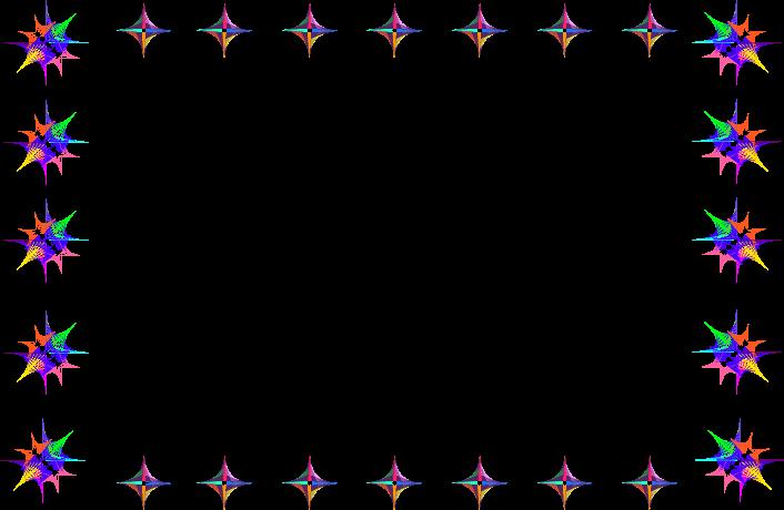 彩色星星边框素材
